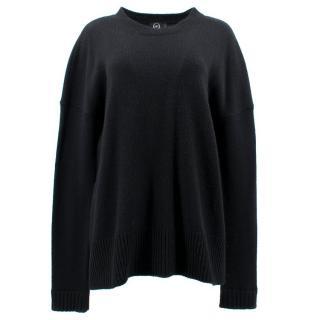 McQ Alexander McQueen Black Wool Oversized Jumper