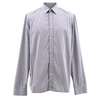 Burberry Blue Striped Cotton Shirt