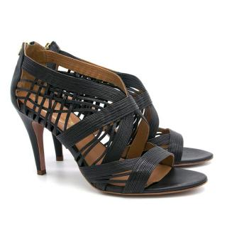 Elie Tahari Black Leather Heels