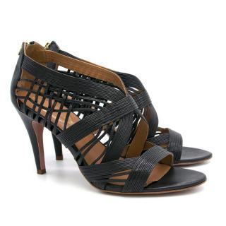 Elie Tahari Black Leather Heels