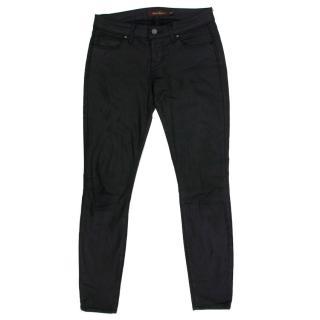 Raven Denim Mika Leather Coated Skinny Jeans