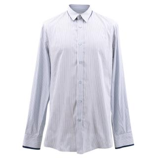 Alexander McQueen Blue Pin Striped Shirt