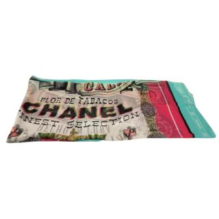 CHANEL 100% Silk Large Scarf - Cuba Collection