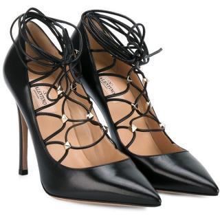 Valentino Rockstud lace-up pumps