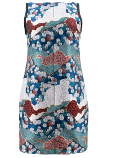 Proenza Schouler Blue Brocade Dress