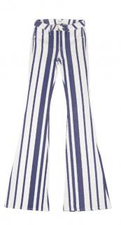 Hudson Mia striped mid rise flare-leg jeans