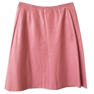 Okira Pink Leather Skirt