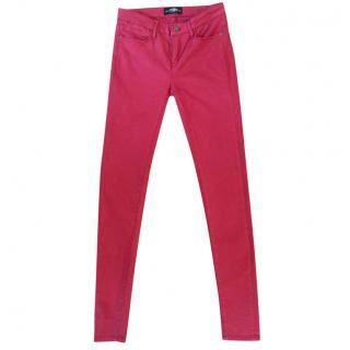 SALTSPIN dark red skinny stretchy jeans
