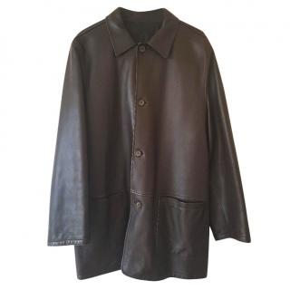 Ermenegildo Zegna Mens 100% Leather Coat