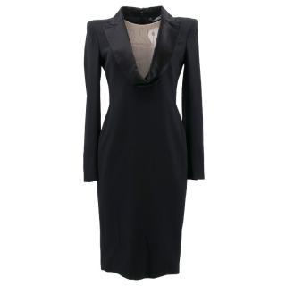 Alexander McQueen Black Blazer Dress