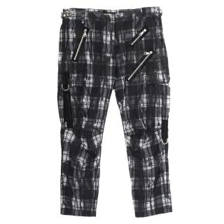 Balmain Checked Pattern Trousers With Studs