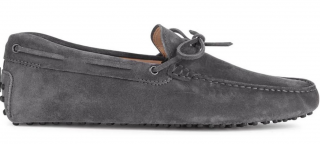 Tod's Gommino Grey Driving Shoes