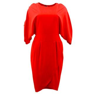 Fendi Red Cotton Dress