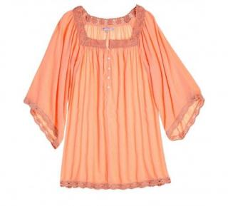 Calypso St.Barth Cotton Gauze Blouse Kaftan Top