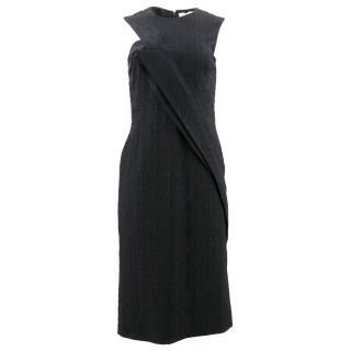 Stella McCartney Black Patterned Wrap Dress