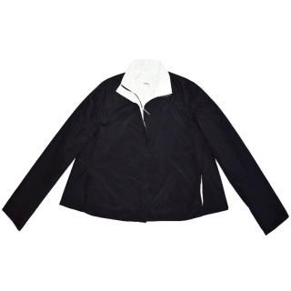 Gianfranco Ferre  Black Full Zip Short Cape