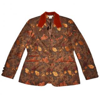 George Rech  Floral Wool Blend Blazer