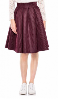 Maje 'Jimmy' Bordeaux Perforated Skirt