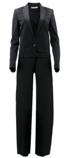 Celine Black V Neck Tailored Jumpsuit