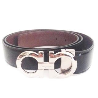 Salvatore Ferragamo Men's Black Leather Belt