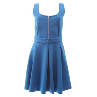 Maje 'Edwige' Neoprene Belted Zip Front Dress