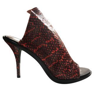 Balenciaga Red Snakeskin Heels