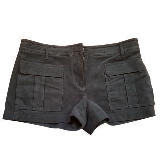 BCBG Max Aria faux suede shorts