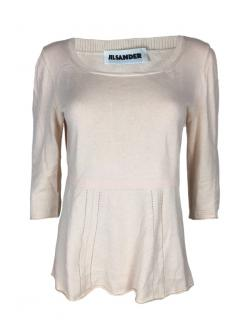 Jil Sander off white Knit top