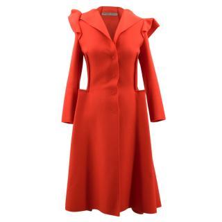 Bottega Veneta Red Wool & Cashmere Coat