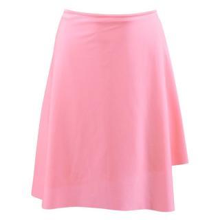 Balenciaga Pink Asymmetric Stretch-Satin Wrap Skirt