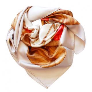 Gucci Fall Floral Silk Scarf