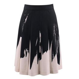 Bottega Veneta Black and Beige Skirt