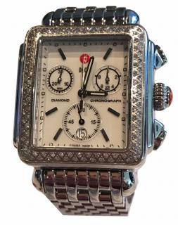 Michele Diamond Watch with extra red croc strap