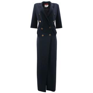 Ronald Van Der Kemp Navy Blazer Dress