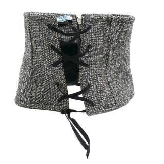 Prada Grey Wool Corset