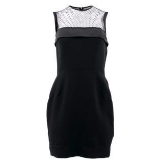 Victoria Beckham Black Mesh Dress