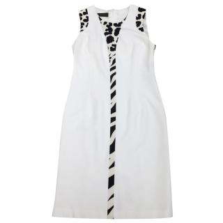 Versace Cream Racer Back Dress