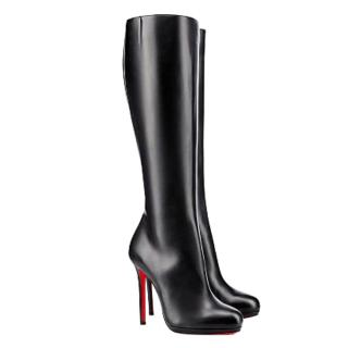 Christian Louboutin Black Calf Leather Botalili 120 High Boots