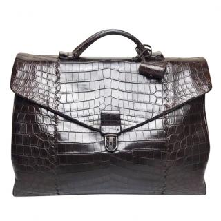Bottega Veneta Crocodile Skin Briefcase