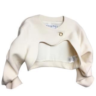 Dior cream wool cropped jacket