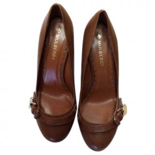Mulberry Tan Leather Pumps