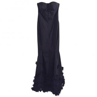 Nina Ricci taffeta/floral appliqu� gown