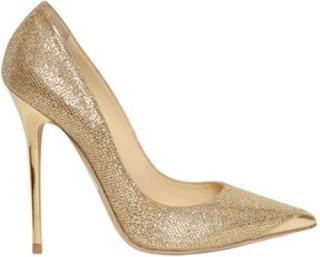 Jimmy Choo Gold Glitter Anouk Shoes
