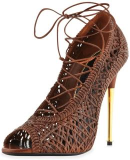 Tom Ford woven nappa lace up pumps