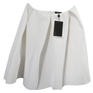 Raoul vanilla pleated skirt