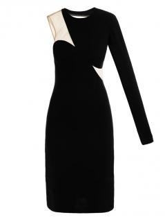 Stella McCartney bodycon mesh one shoulder dress