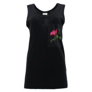 Dries Van Noten Black Rose Vest Top