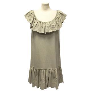Red Valentino beige babydoll dress