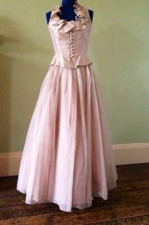 Jenny Packham, nude colour 2 piece, special occasion full length outfit. Size 10