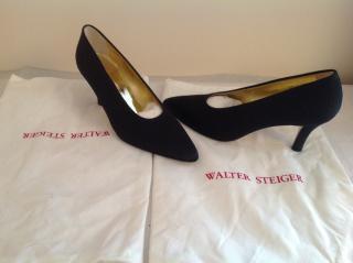 Walter Steiger Embossed Satin Shoes